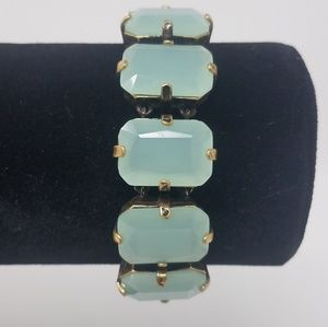 J. Crew Green Jewel Bracelet